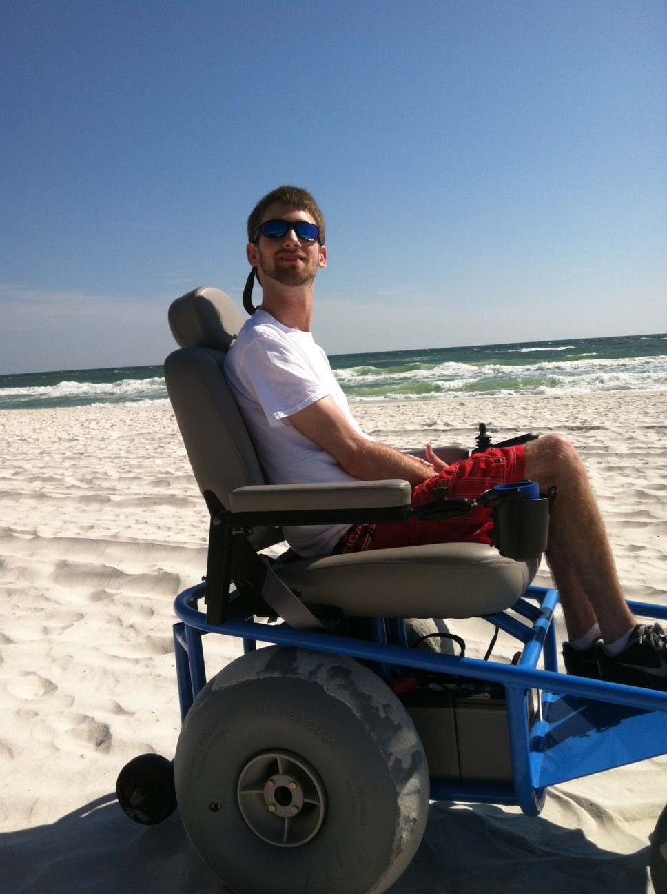 motorized beach wheelchair rental meet ryan carter