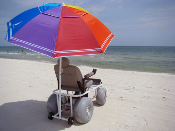 Motorized beach wheelchair beach powered mobility for Wheelchair accessible homes for sale in florida