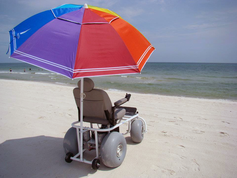 Motorized beach wheelchair beach powered mobility for Motorized wheelchair for sale