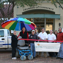 Beach Powered Mobility Ribbon Cutting Destin Chamber of Commerce
