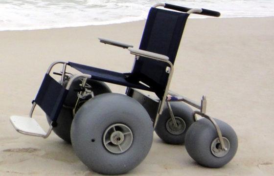 Push Beach Wheelchair