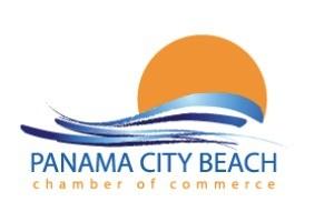 Panama City Beach Chamber Logo white back